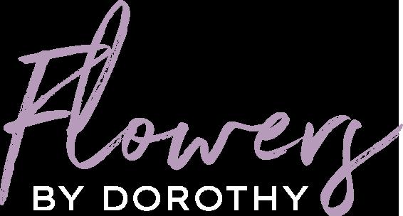 Flowers By Dorothy Logo White
